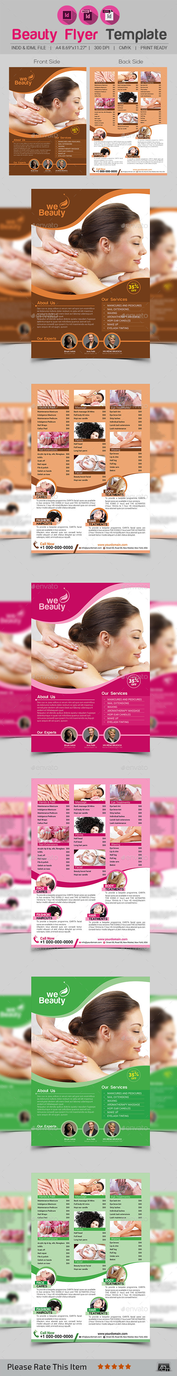 Beauty Flyer Template - Restaurant Flyers