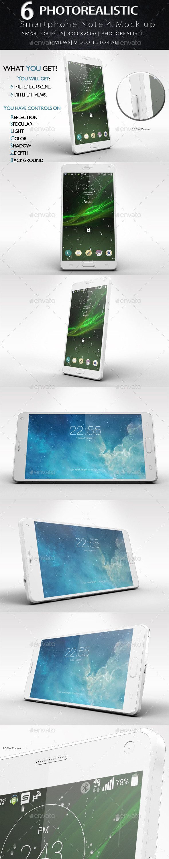 Galaxy Note 4 Smartphone Mock Up Vol.2 - Product Mock-Ups Graphics