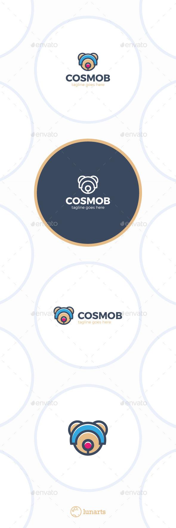 Space Bear Logo - Cosmo - Animals Logo Templates