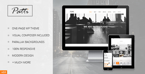 Patti – Parallax One Page WordPress Theme