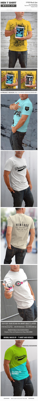 Men T-Shirt Mock Up - T-shirts Apparel