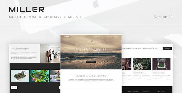 Miller - Multipurpose Responsive Template