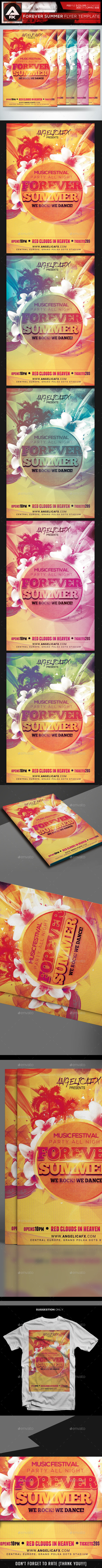 Forever Summer Flyer Template - Flyers Print Templates