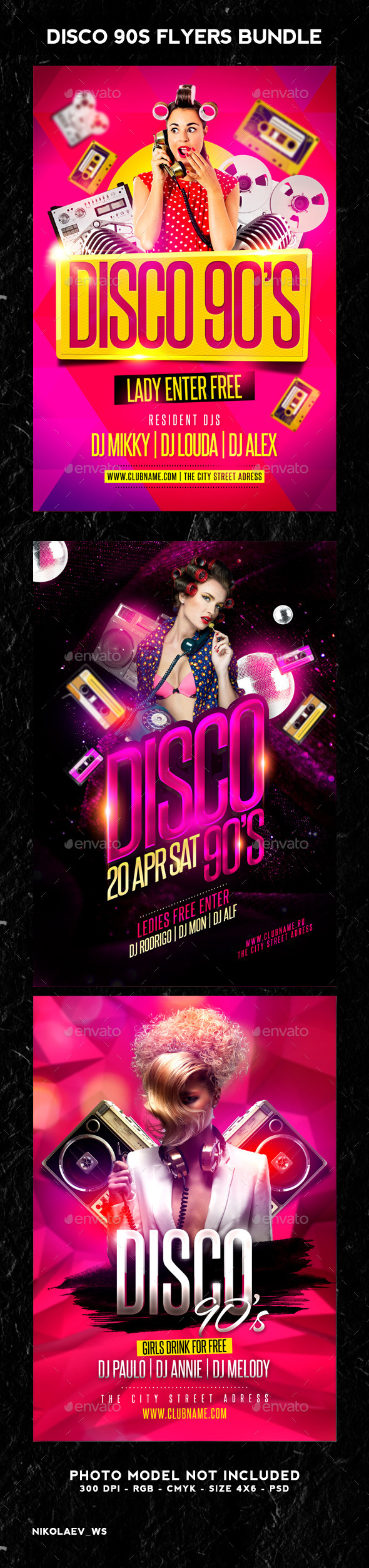 Disco Party 90s Bundle - Clubs & Parties Events