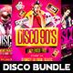Disco Party 90s Bundle - GraphicRiver Item for Sale
