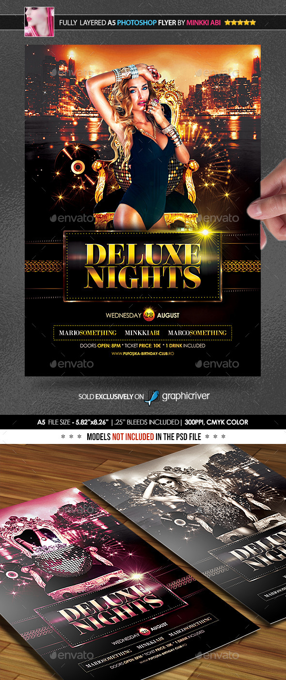 Deluxe Nights Poster/Flyer - Clubs & Parties Events