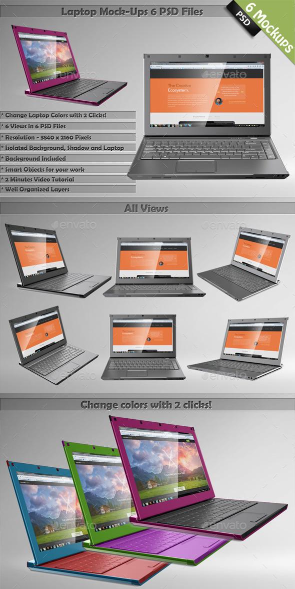 Laptop Mockups - Laptop Displays