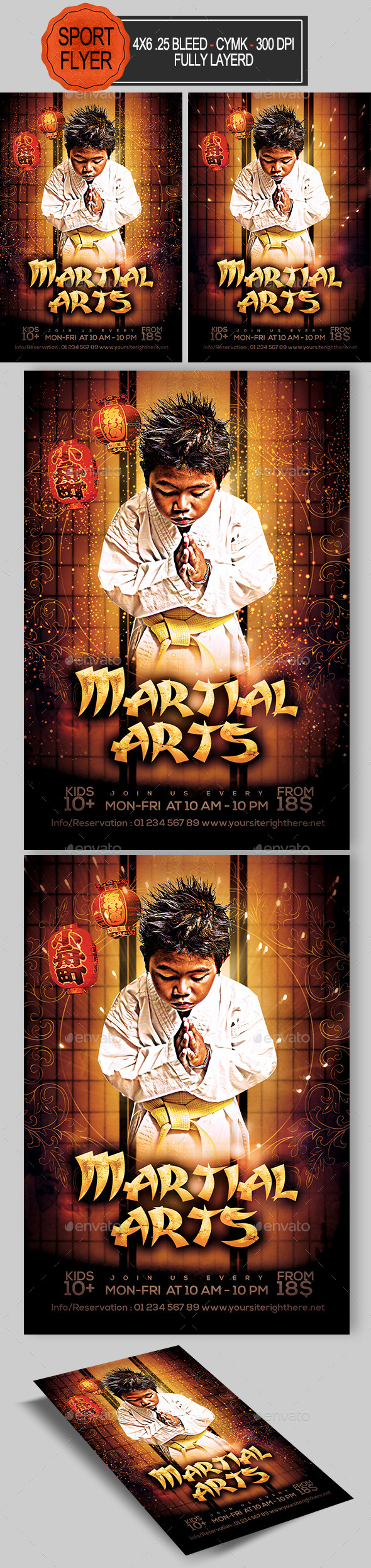 Martial Arts Flyer - Sports Events