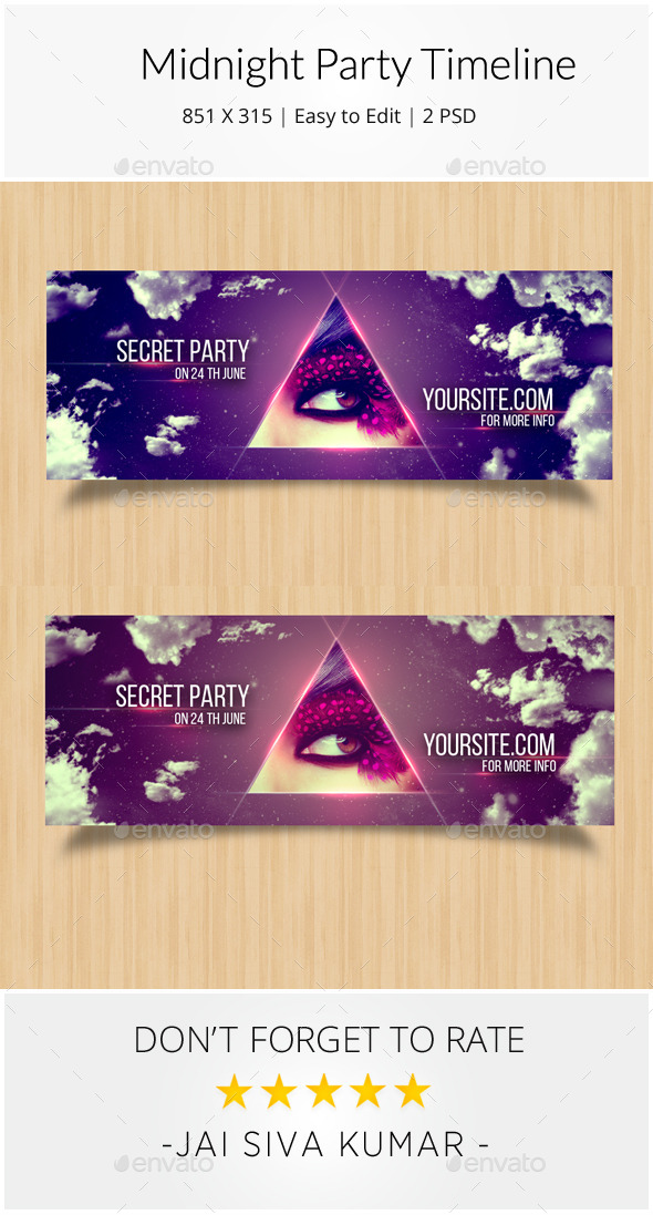 Midnight Party Timeline - Facebook Timeline Covers Social Media