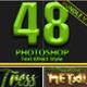 48 Photoshop Text Styles Bundle Part 2 - GraphicRiver Item for Sale
