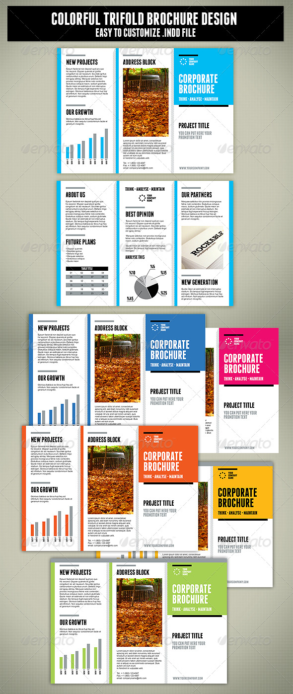 Tri-Fold Brochure Design - Corporate Brochures