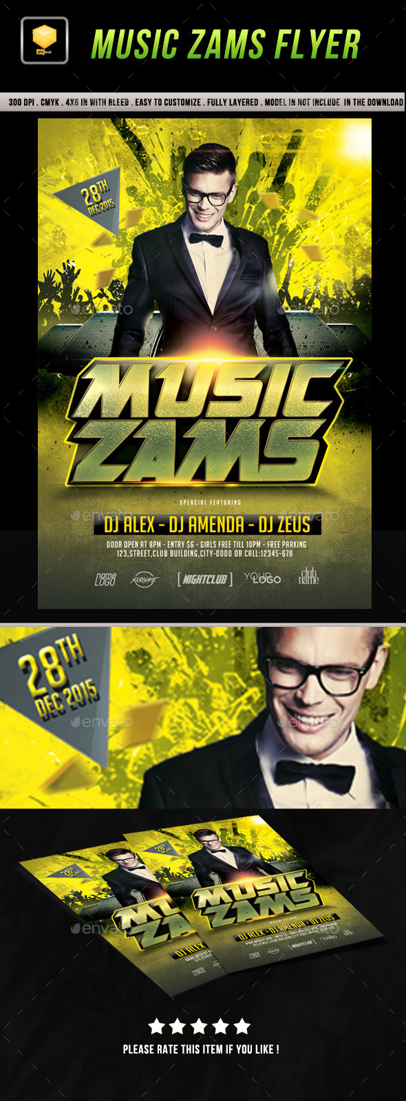 Music Zams Flyer - Clubs & Parties Events