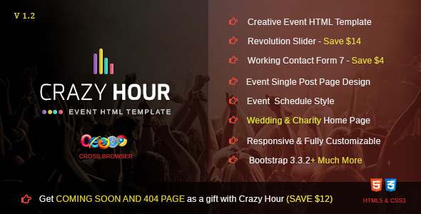Crazy Hour - Event Management HTML Template