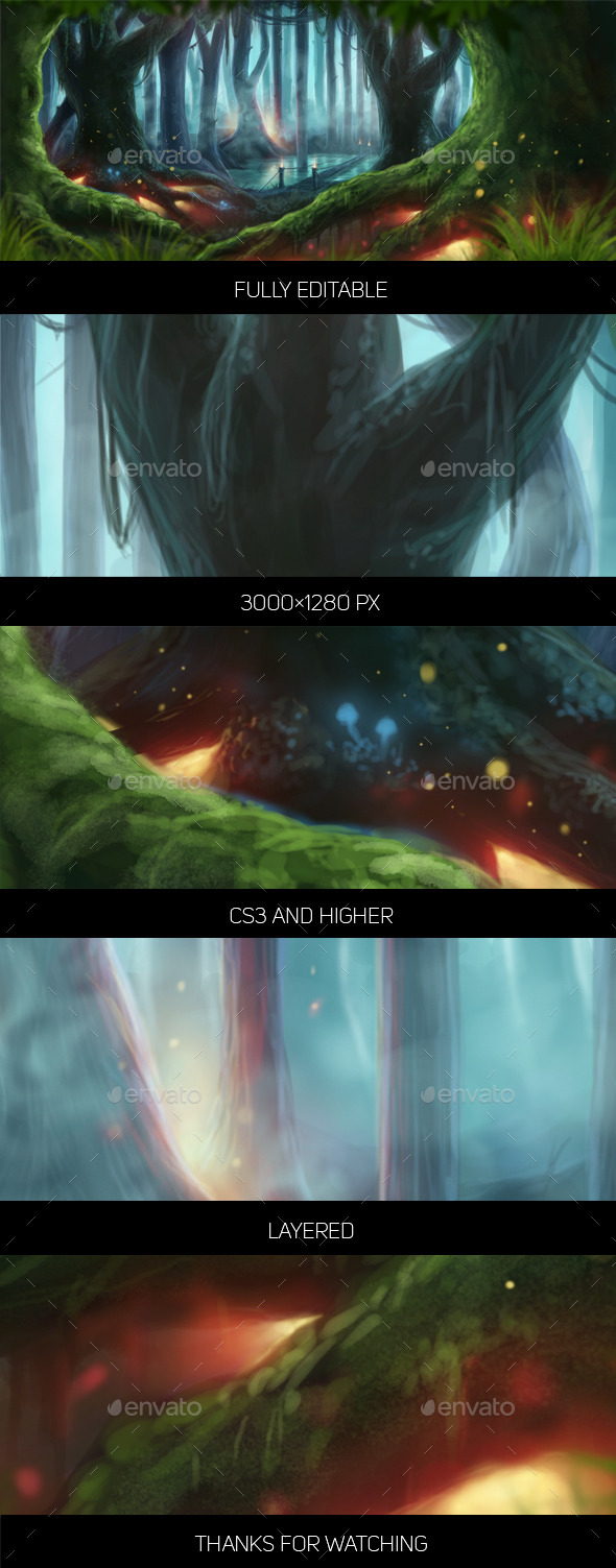 Fantasy Forest - Miscellaneous Illustrations