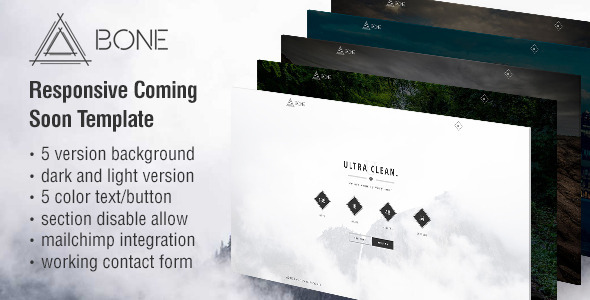BONE – Responsive Coming Soon Template