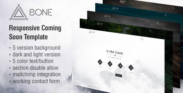 BONE - Responsive Coming Soon Template