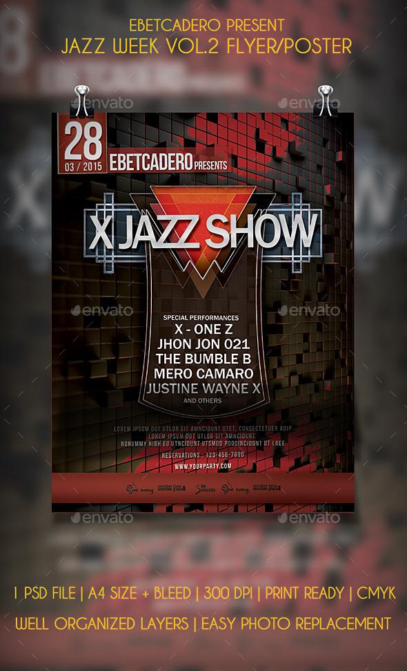 Jazz Week Flyer / Poster Vol.2  - Events Flyers