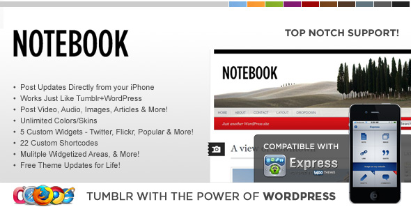 WP Notebook WordPress Theme by contempoinc | ThemeForest