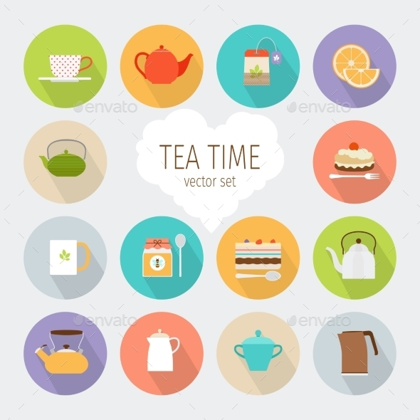 Tea Flat Icons - Food Objects