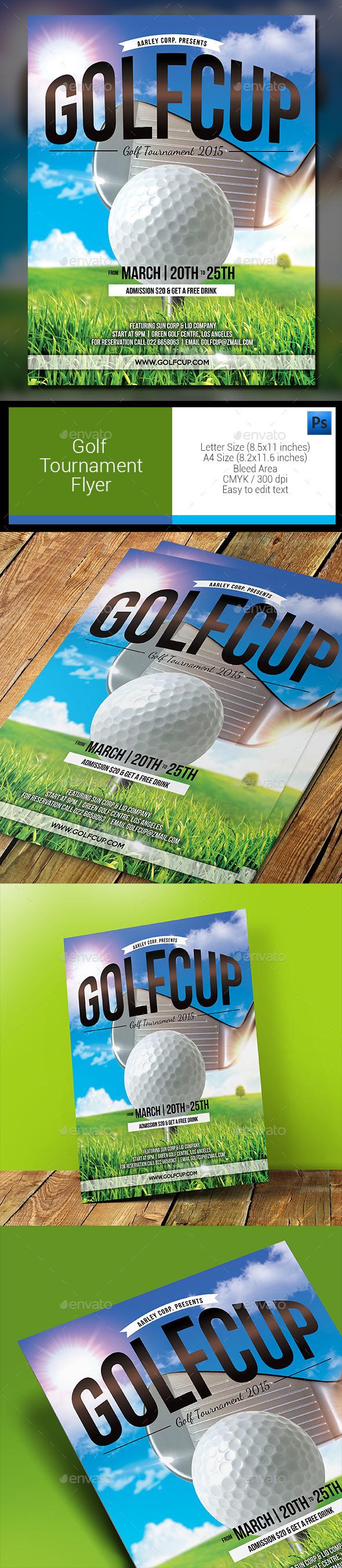 Golf Tournament Flyer - Sports Events