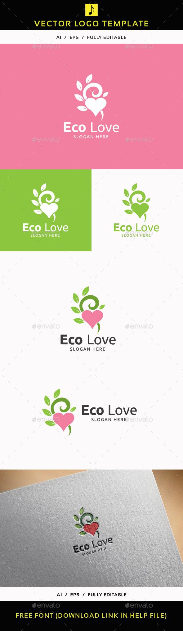 Eco Love - Humans Logo Templates