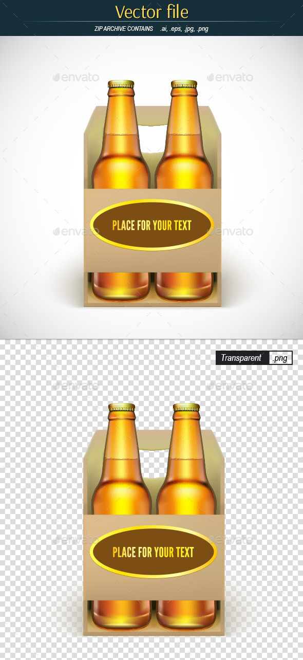 Packaging of Beer with Place for Your Text - Objects Vectors