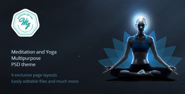 Meditation and Yoga | Multipurpose PSD Template
