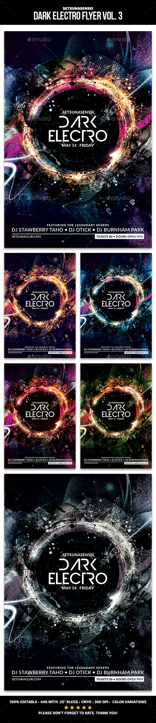 Dark Electro Flyer Vol. 3 - Clubs & Parties Events