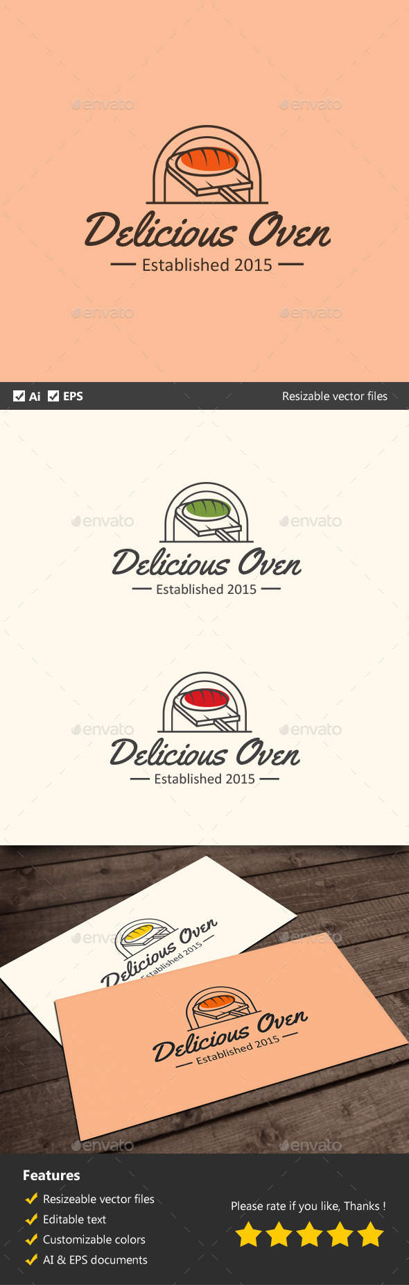 Delicious Oven - Food Logo Templates