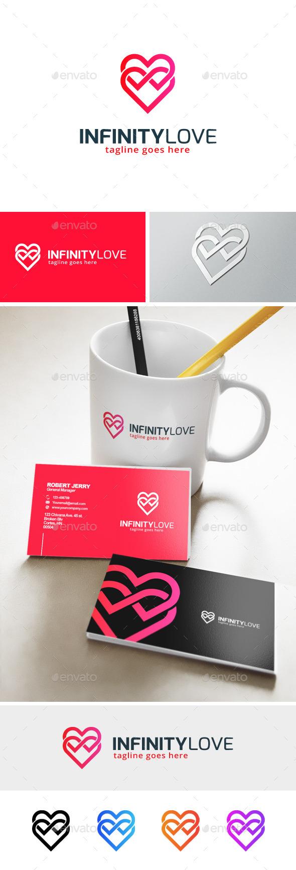 Infinity Love Logo - Symbols Logo Templates