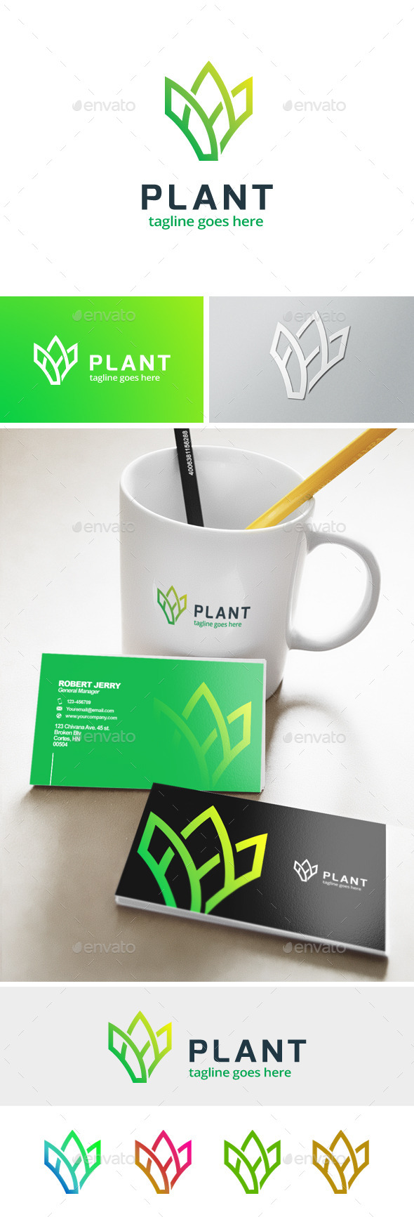 Plant - Farm Logo - Abstract Logo Templates