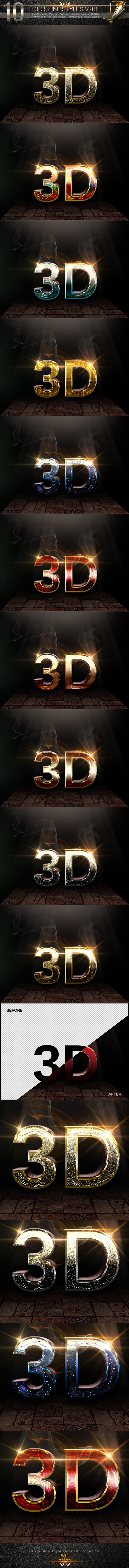 10 3D Text Style V.48 - Text Effects Styles