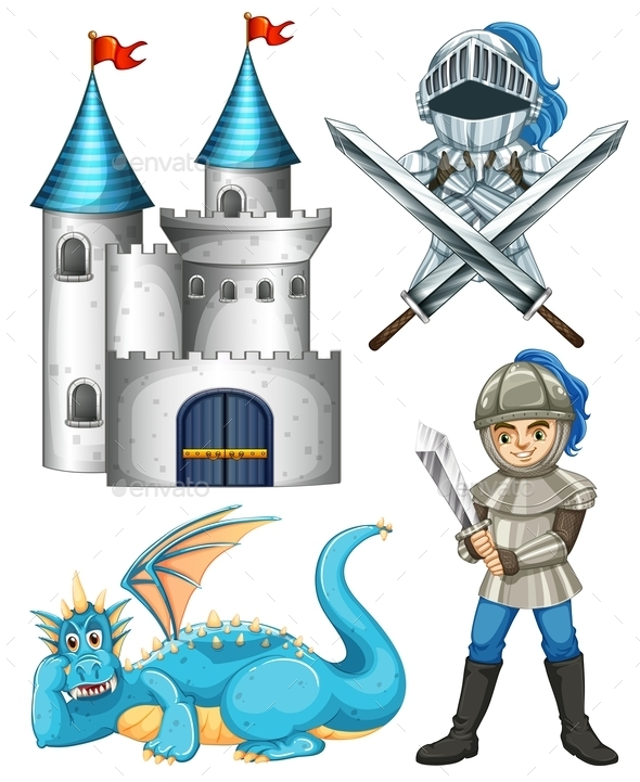 Knight and Dragon  - People Characters