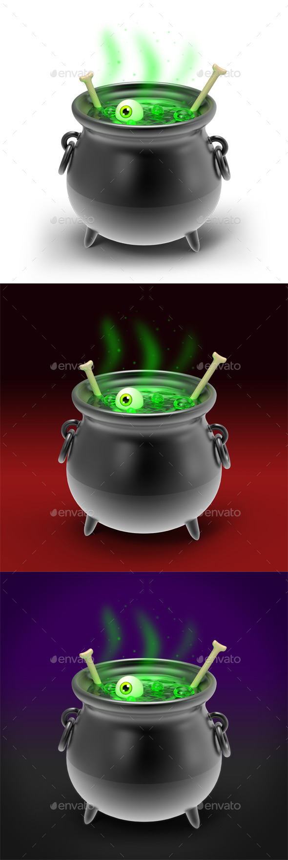 Halloween Cauldron 3D Illustration by nelutu | GraphicRiver