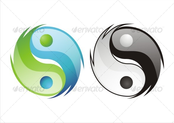 cool ying yang - Decorative Symbols Decorative