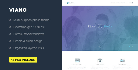 Viano — Portfolio PSD Theme - Portfolio Creative