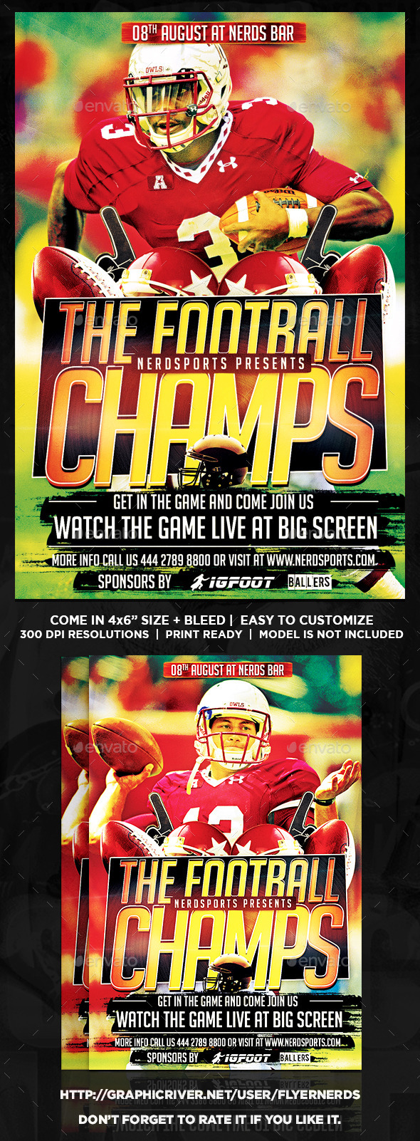 Football Championships Sports Flyer - Sports Events
