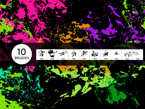 10 Wall Grunge Photoshop Brushes - Grunge Brushes