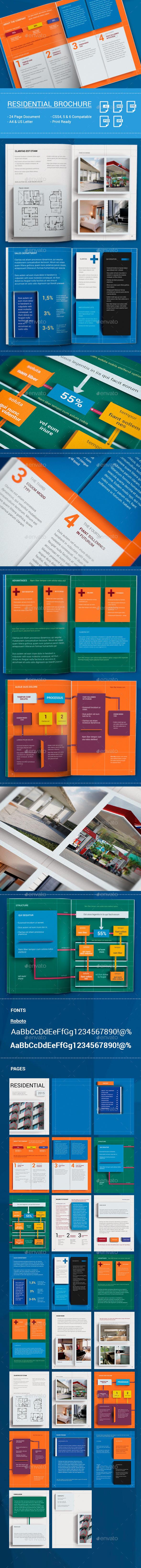 DIEZ 3D Elements Brochure Template - Brochures Print Templates