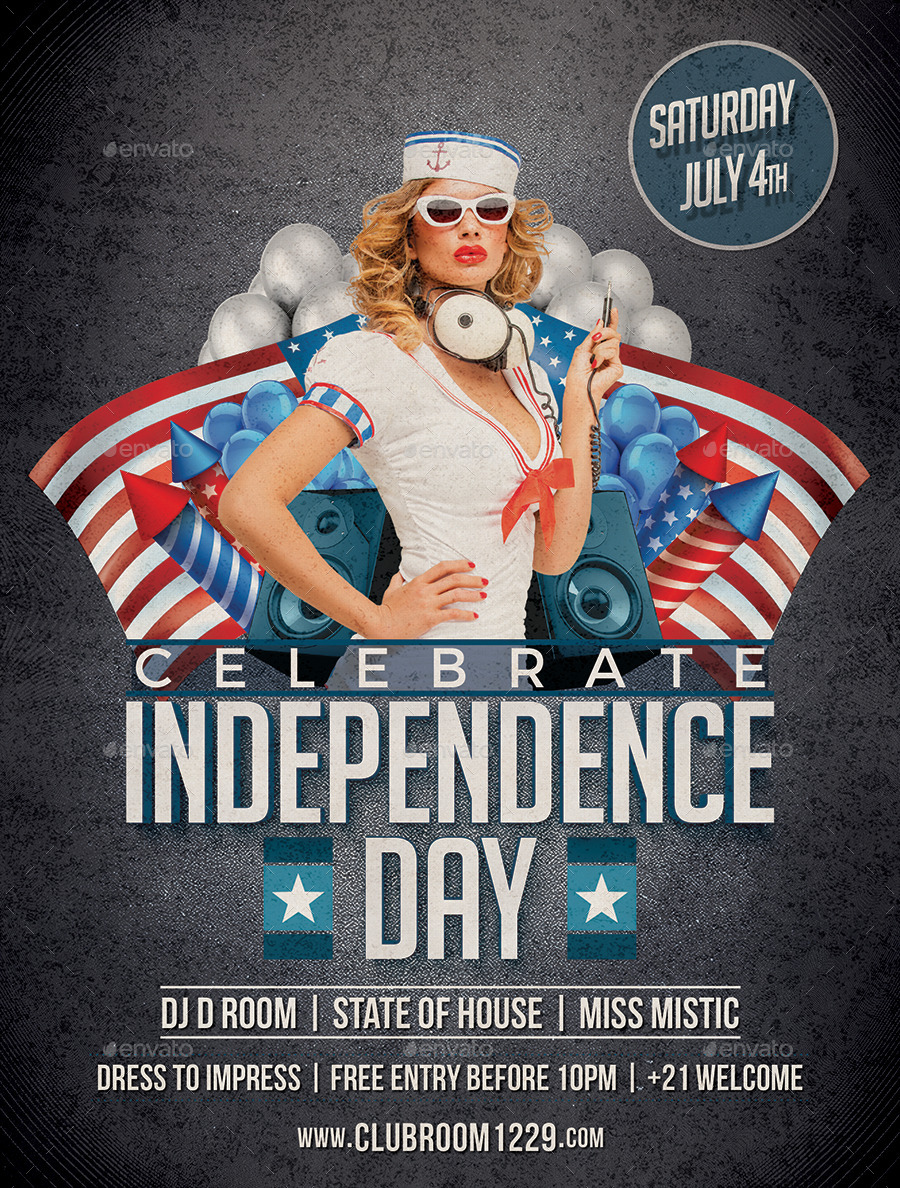 Independence Day Flyer Template by DESIGNROOM1229 | GraphicRiver