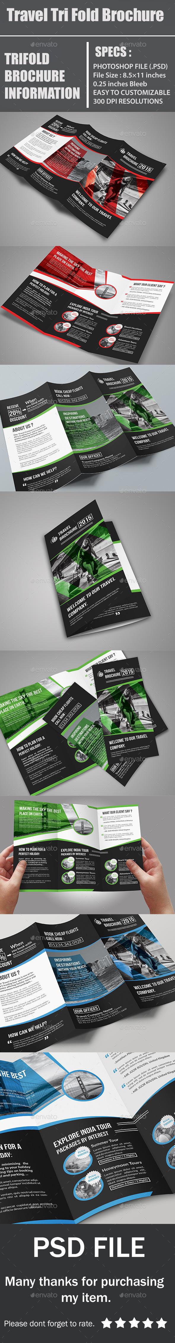 Travel Tri Fold Brochure - Corporate Brochures
