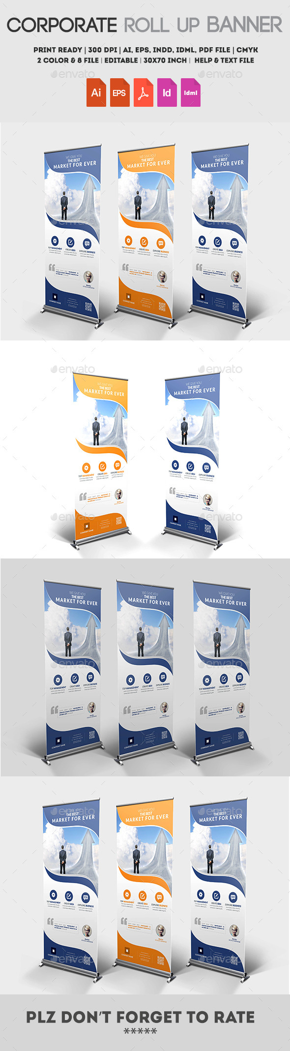 Multipurpose Roll up Banner - Packaging Print Templates