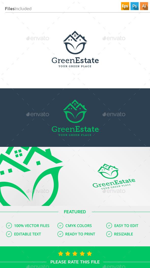 Green House Logo - Buildings Logo Templates