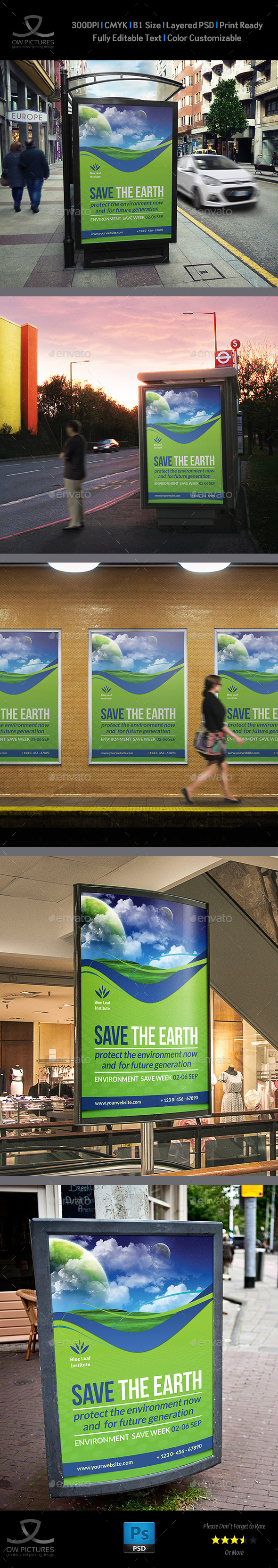Environment Poster Template - Signage Print Templates