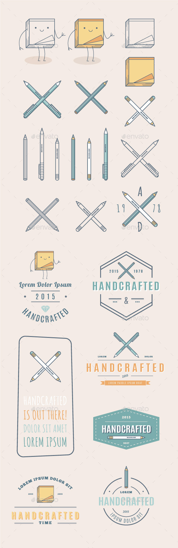 Trendy Retro Vintage Insignias and Logo - Miscellaneous Vectors