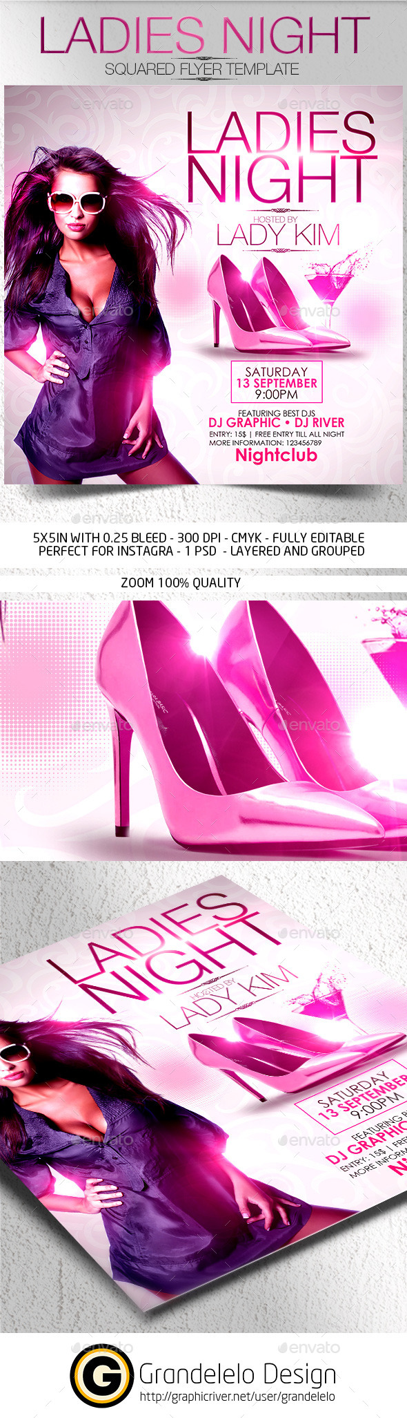 Ladies Night Flyer Template 2015 - Clubs & Parties Events