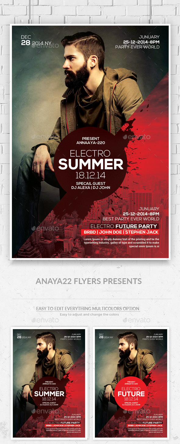 Electro Future Concert Dj Flyer  - Clubs & Parties Events