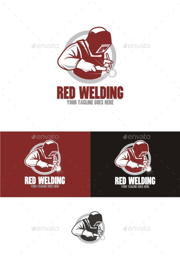 Red Welding - Humans Logo Templates