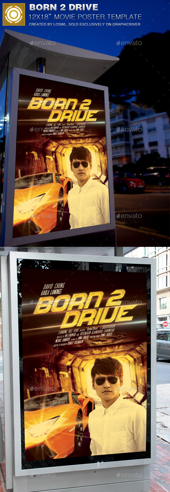 Born 2 Drive Movie Poster Template - Miscellaneous Events