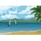 Sea Landscape with Palms - GraphicRiver Item for Sale